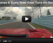 Cooler Temps & Sunny Skies Greet Trans Am Raceday